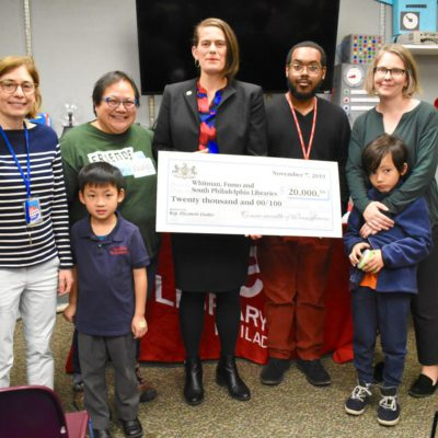 Rep. Fiedler gifts $20,000 state grant for South Philly libraries